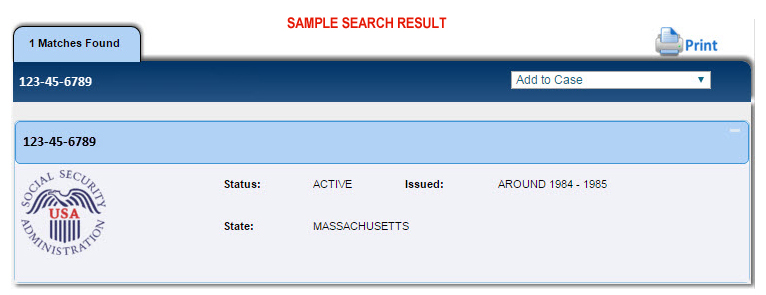 Social Security Number Search